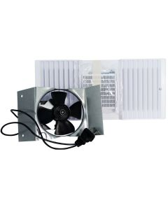 Rush Hampton CA90 Ductless Fan  Motor Assembly with Louver and Filter (B Pack), White (Replaces Old SKU 12218)