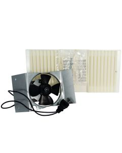 Rush Hampton CA90 Ductless Fan Motor Assembly with Louver and Filter (B pack), Beige (Replaces Old SKU 17282)