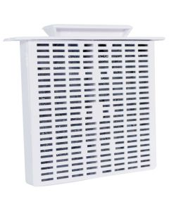 Rush Hampton CA90 Ductless Fan Refillable Filter - White (Replaces Old SKU 16407)