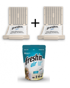 Fresh'n Air  Refillable Filter Combo Pack Beige